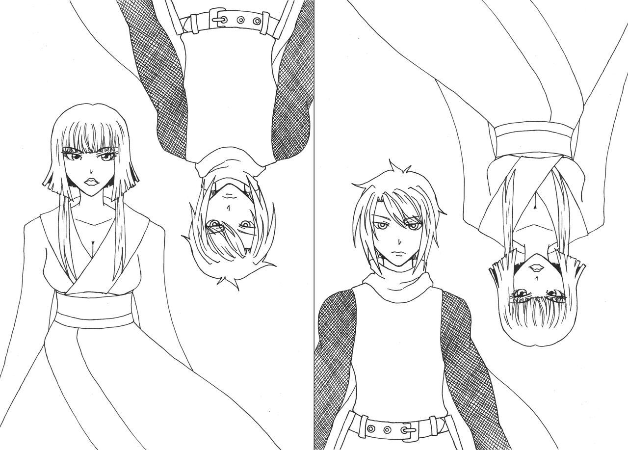Tmnt 2003 coloring pages ~ TMNT Gijinka Raph and Karai lineart by Kiosa on DeviantArt