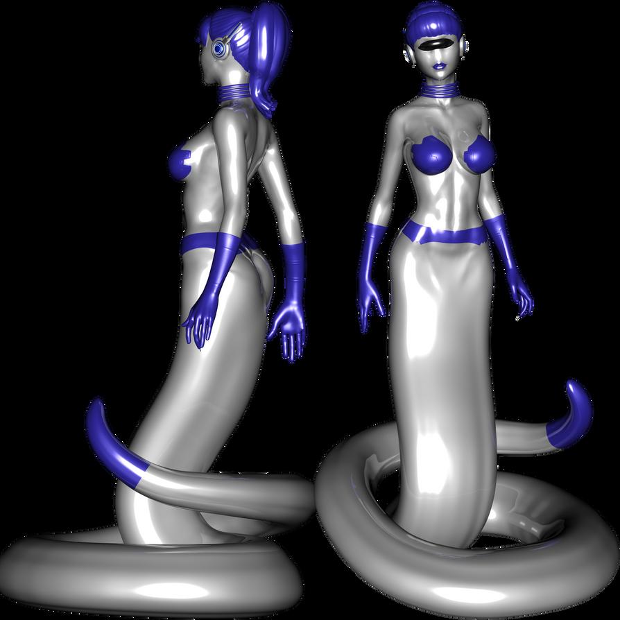 Gynoid Naga test render by NukuNookee