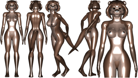 Latex Mecha Otter ref female by NukuNookee