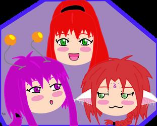 Trio by Miyakun6