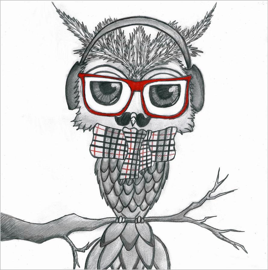 hipster owl by rancid romance on deviantart