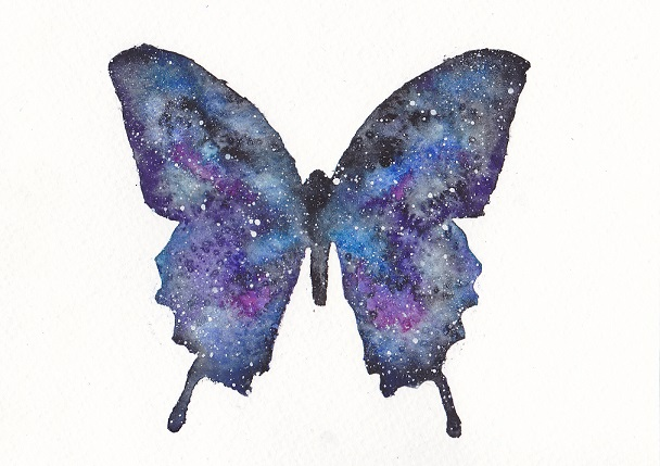 Easy Watercolor Paintings Of Butterflies Galaxy Watercolor Butt...
