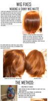Cosplay Wigs: Taking away wig shine
