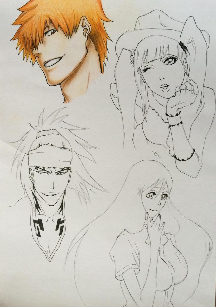 Bleach characters, wip by Rumiko-san