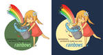 Rainbows: Water Bucket by cloverhearts