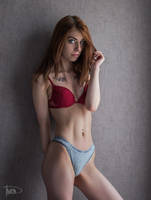 redhead girl by philippe-art