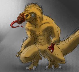 Prehistoir Character design by Kaijutyrannus-Rex