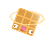 Cosmo Waffle by SpaceWaffleDelivery