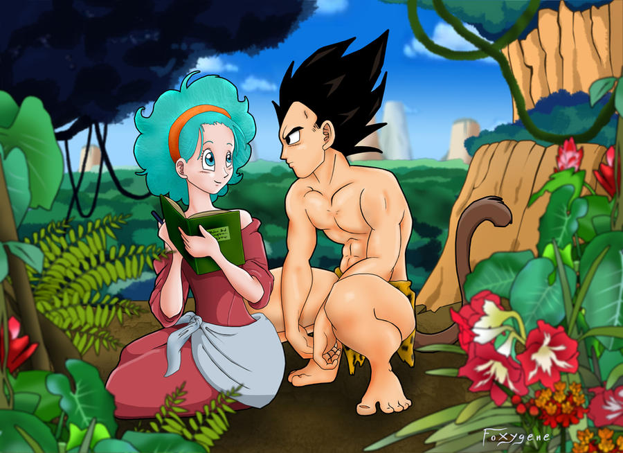 Bulma and Vegeta - Tarzan Spoof by Foxygene