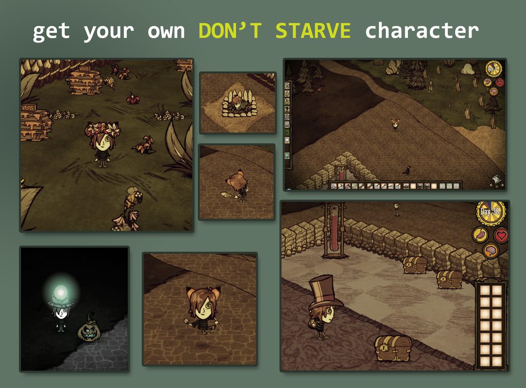 Like Don't Starve? GET YOUR OWN CHARACTER! by Foxygene