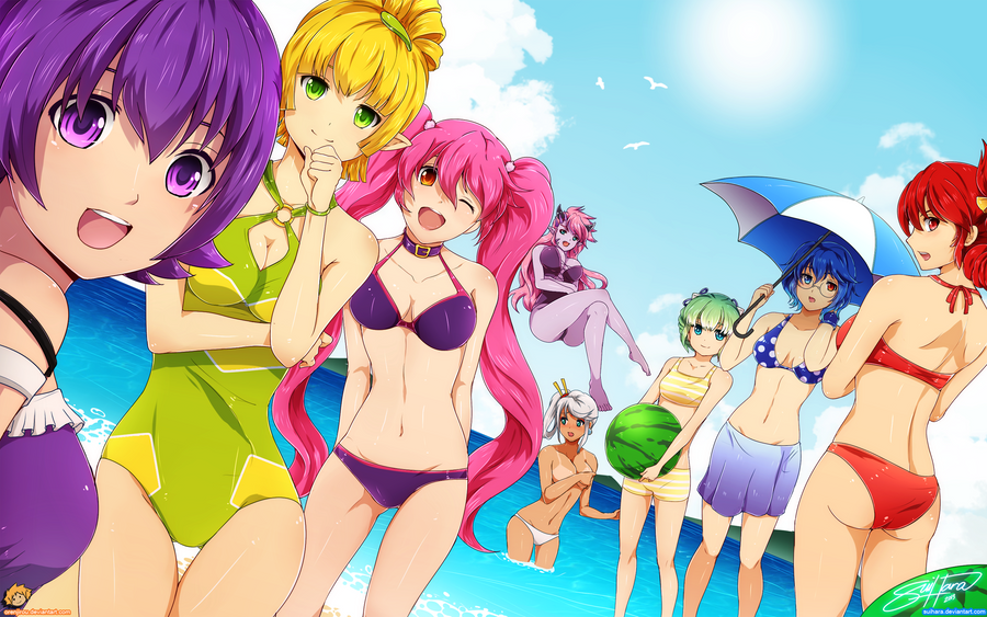 Grand Chase Beach Girls by Suihara