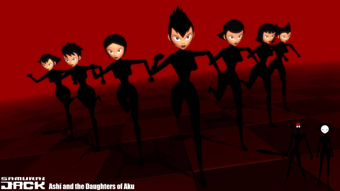 (MMD Model) Ashi and the Daughters of Aku DL