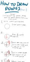 How to draw ponies, part 1 by kilecroc