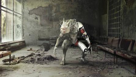 Outlander Cyborg-Werewolf by 0utlanD3r
