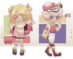 [OPEN] Adoptable #10-11: Fruit Crepe + Parfait by artimespace