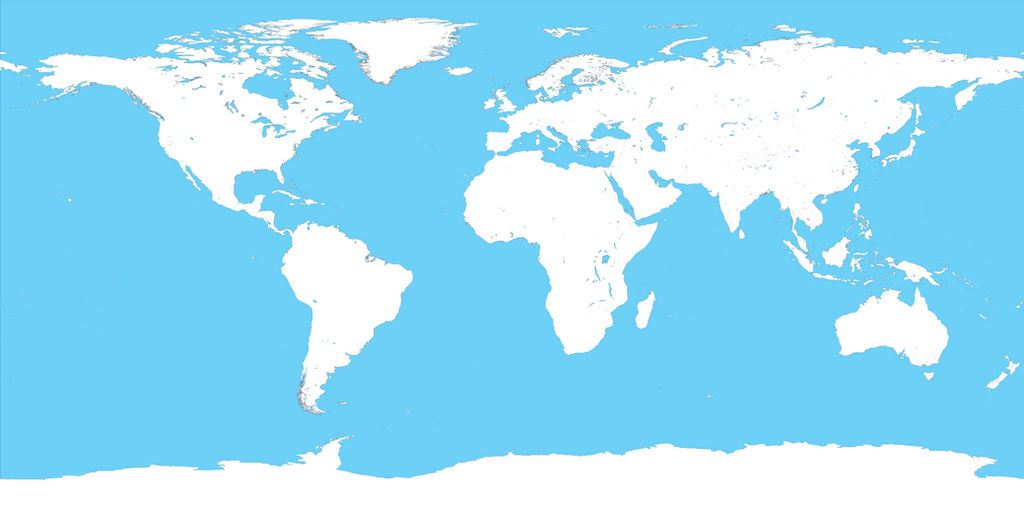 Map Of The World No Borders.Huge Map Of The World No Rivers No Borders By Mrownerandpwner On