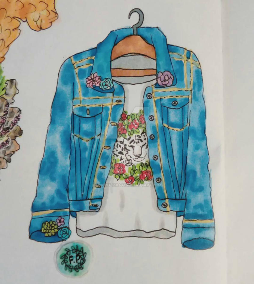Denim jeans jacket drawing by forest-pirate on DeviantArt