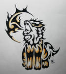 Tribal Arcanine commission