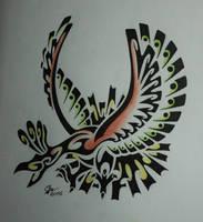 Tribal Ho-Oh by Esmeekramer