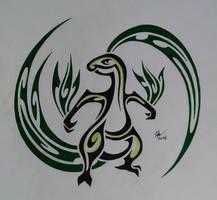 Tribal Grovyle by Esmeekramer