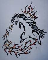 Tribal Typhlosion by Esmeekramer