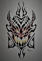 Dragonslayer Braum tribal shield by Esmeekramer