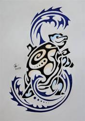 Tribal Blastoise by Esmeekramer