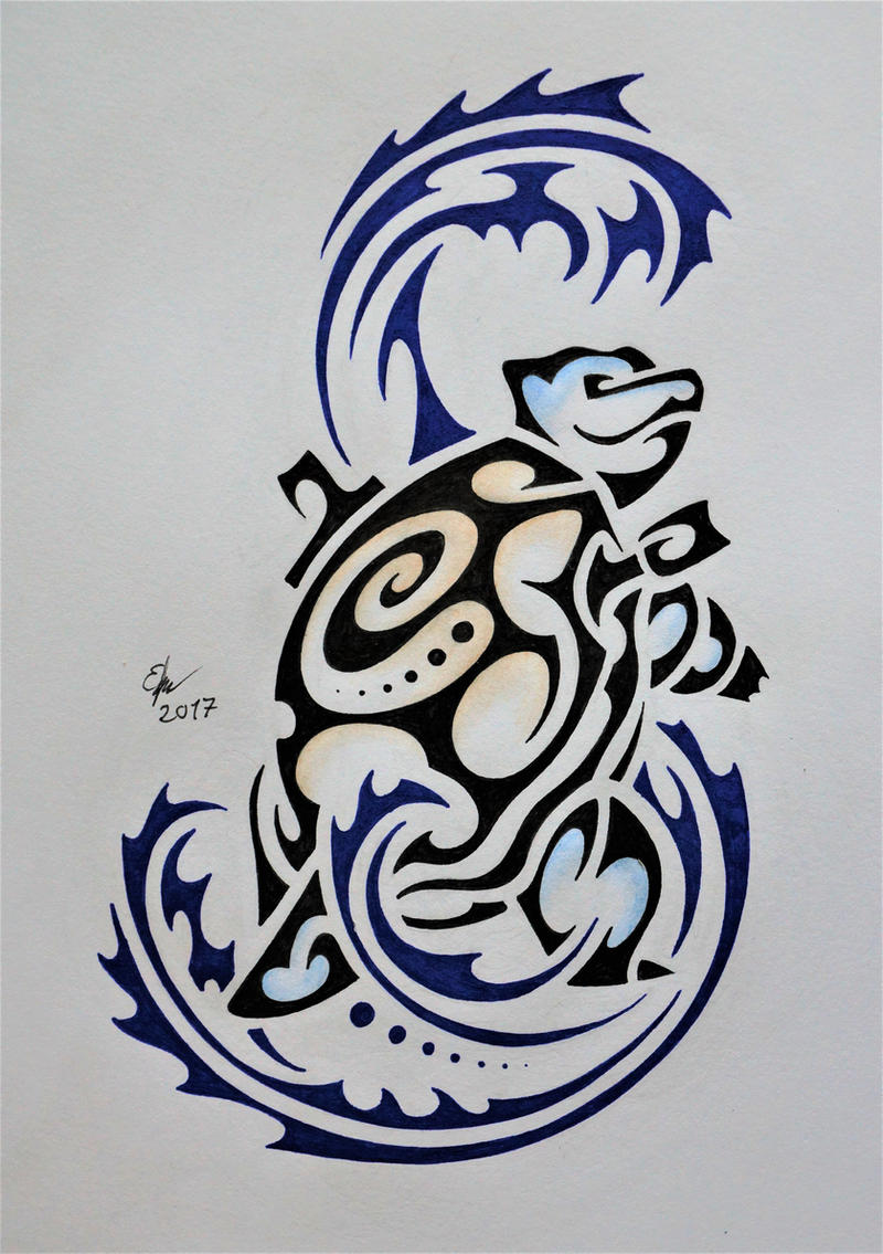 Tribal Blastoise by Esmeekramer on DeviantArt