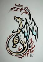 Tribal Charizard by Esmeekramer