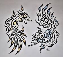 Regular and Alolan Ninetales by Esmeekramer