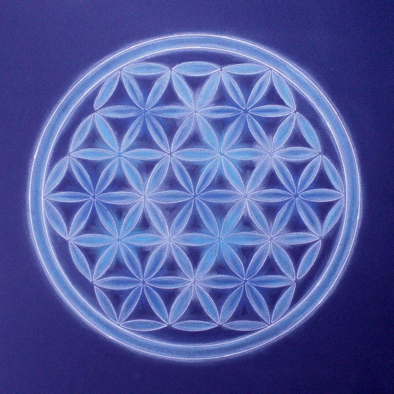 Fleur De La Vie Cristal Bleu By Demielune On Deviantart