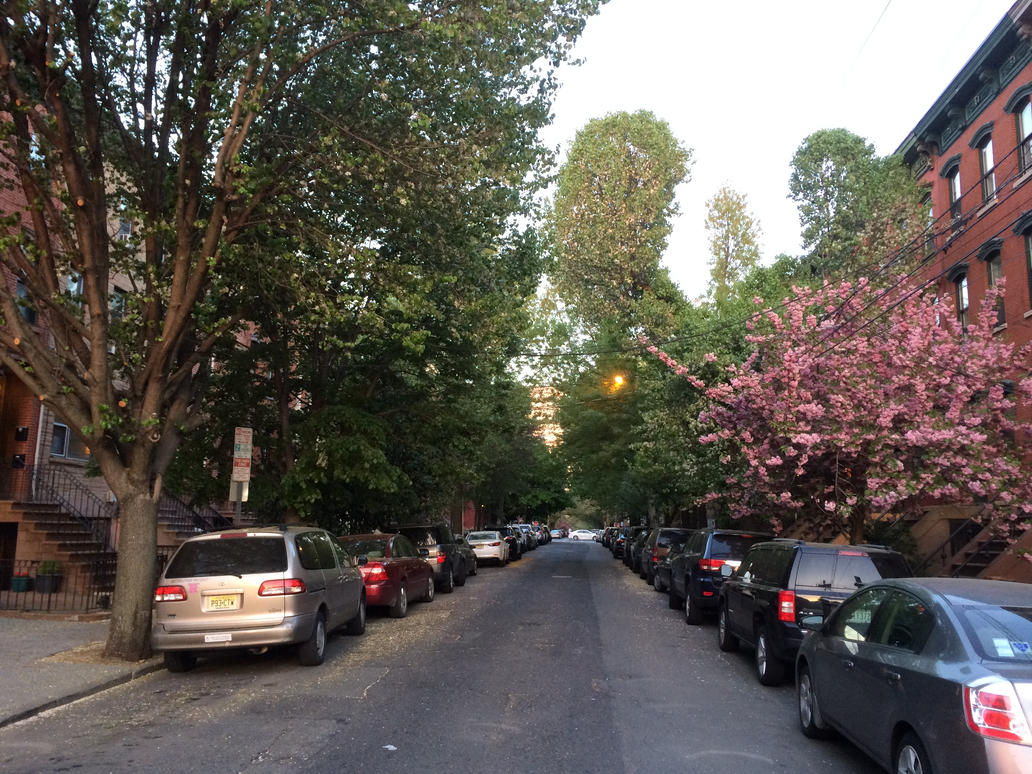 A Green Street in Jersey City by towerpower123
