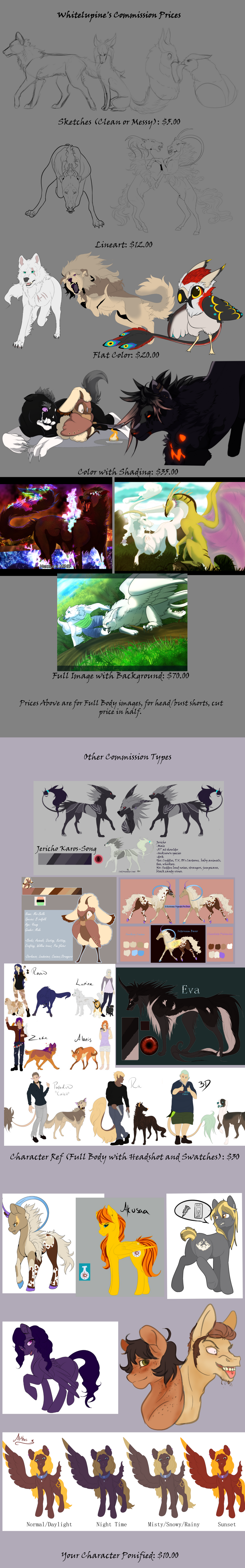 Whiteluepine's Commission Prices by Whitelupine