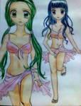 two girls in beach