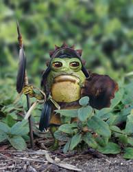 Bufo Warrior Goblin by KomodoEmpire