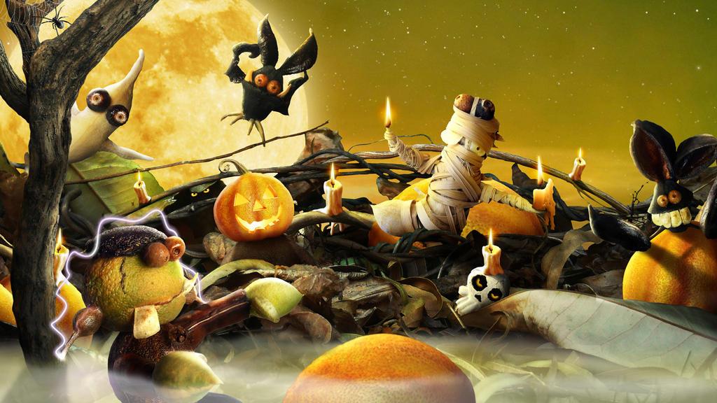 OB Halloween Wallpaper by KomodoEmpire
