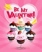 Kawaii Cupcake Valentine Card