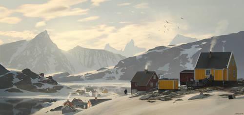 Polar town by JeremyPaillotin