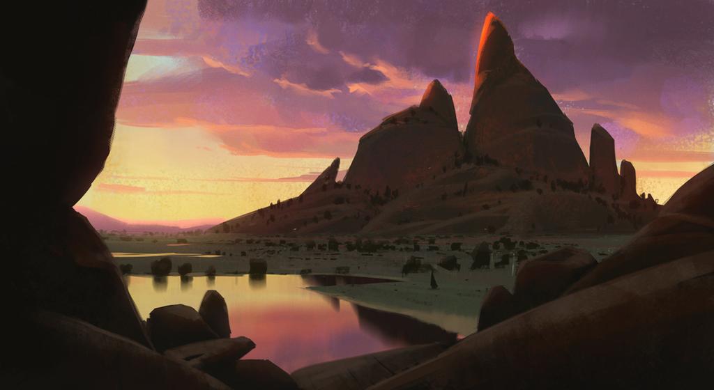 Savana Mountain + Process video by JeremyPaillotin