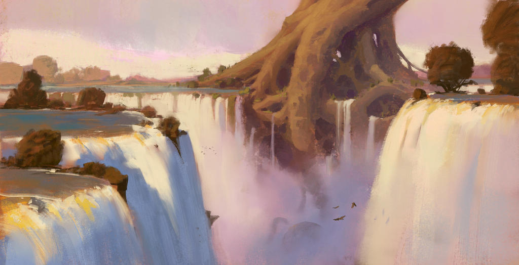 Waterfalls + Process video by JeremyPaillotin