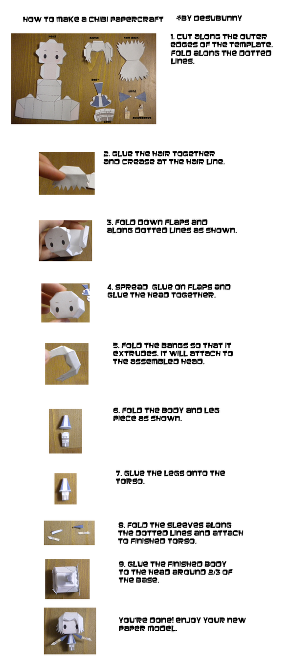 How to build Chibi Papercraft by tsunyandere