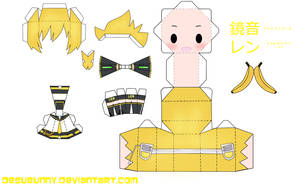 Kagamine Len Papercraft by tsunyandere