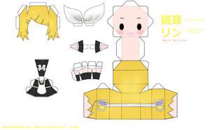 Kagamine Rin Maid Version by tsunyandere