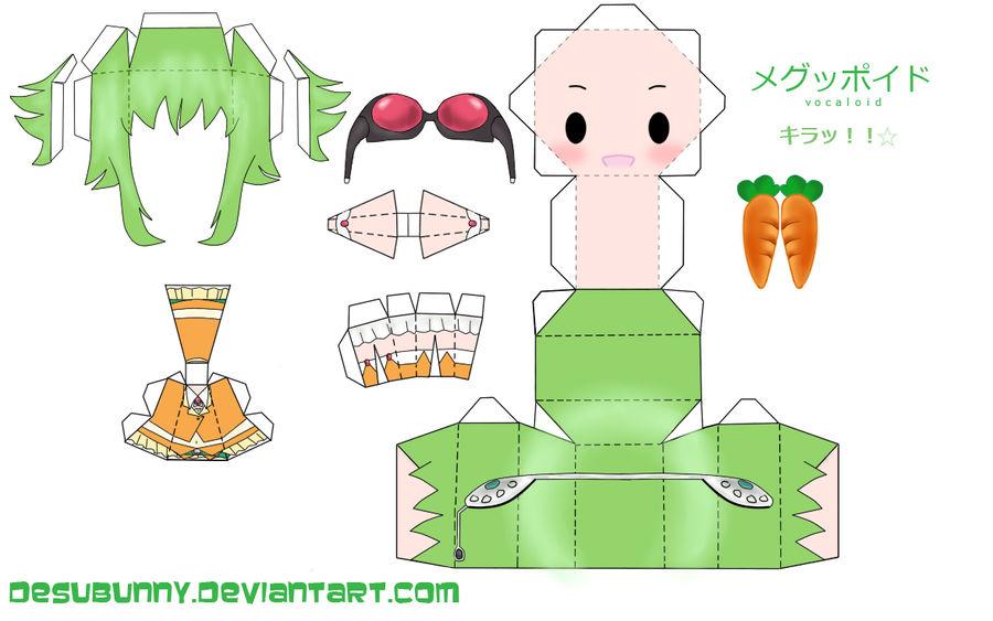 Chibi Gumi Papercraft by tsunyandere