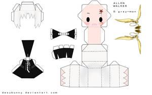 Allen Walker Papercraft by tsunyandere