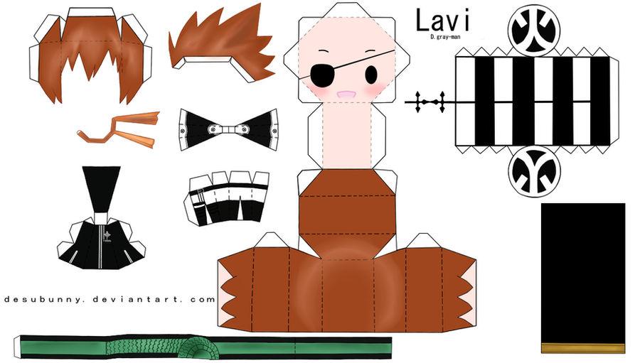 Chibi Lavi Papercraft by tsunyandere