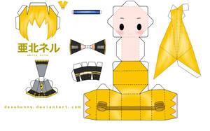 Akita Neru Papercraft by tsunyandere