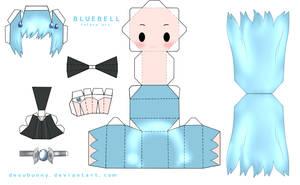 Reborn Bluebell Papercraft by tsunyandere