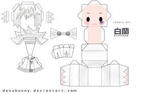 Reborn Byakuran Papercraft by tsunyandere