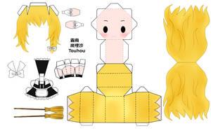 Touhou Marisa Papercraft by tsunyandere